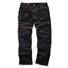 Scruffs WORKER PLUS Work Trousers Graphite Grey Navy Black Trade Hardwearing