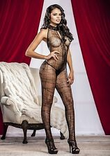 iCollection Lingerie 8630 Spider Web Bodystocking (Black;One Size)