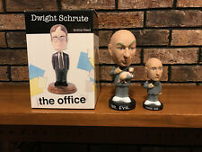 Dwight Schrute bobblehead (new) + Dr. Evil and Mini Me bobblehead - The Office