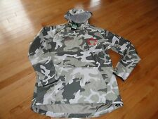 Nike Men's Field General Fly Rush Hoodie Jacket Football Camo Gray Size XL NWT