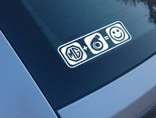 MG PLUS BOOST EQUALS SMILES CAR STICKER FUNNY DECAL TURBO METRO ZR ZT ZS