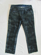 True Religion Straight w/ Flaps Jeans - Laser Resilient Camo -Size 34 - NWT $268