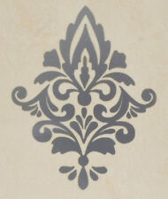 Silver Damask Wall Sticker x 5. Damask Wall Decal. Waterproof Tile Sticker DM1s