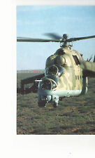 Mi-24 Hind Attack Helicopter  Optec TSA  for U S Army  Unused Postcard  8254