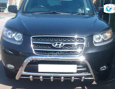 HYUNDAI SANTA FE BULL BAR, CHROME AXLE NUDGE A-BAR 60mm 2006-2010 XMAS OFFER NEW
