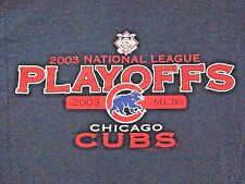 VINTAGE CHICAGO CUBS 2003 NATIONAL LEAGUE PLAYOFFS T SHIRT MEDIUM - BARTMAN