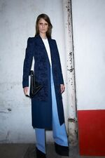 resort 2013 CELINE navy flocked jacket coat 38 Phoebe Philo