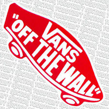 VANS Off The Wall - Aufkleber ROT - Snowboard Skateboard BMX Surfen