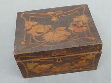 Jugendstil-Schatulle aus Holz, Holzkästchen, Handarbeit