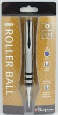 Platignum No 4 Rollerball Pen BRUSHED New & Gift Boxed