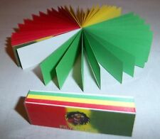 #01 10 RIZLA Irie Colours Filter Rolling Smoking TIPS Card Booklets Roach 500pgs
