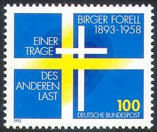 Germany 1993 Forell/Swedish Flag/Heart/Cross/War Refugees/Welfare 1v (n21879)