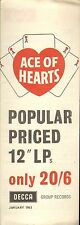 DECCA ACE OF HEARTS RECORD CATALOGUE SUPPLEMENT 1963 01 JANUARY