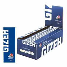 50 Booklets GIZEH ORGINAL Rolling Paper Blue Box 2500 Papers