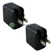 2 USB Black Home Wall Charger Adapter for Apple Tab iPad 2 3 4 Mini 2nd 3rd GEN