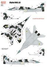 Authentic Decals 1/72 DIGITAL MiG-29 Ukranian MiG-29 in Digital Camouflage