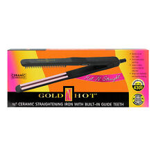 "Gold N Hot GNH 1/2"" Ceramic Straightening Iron with Built-In Guide Teeth #GH3124"