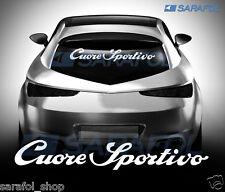 Cuore Sportivo - 60x10 cm Alfa Romeo Adesivo Auto Aufkleber Car Sticker Tuning