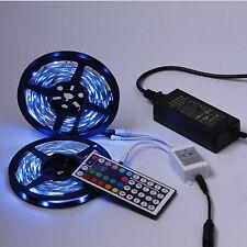 10M SMD 5050 300 LED RGB Streifen Leiste Strip +Fernbedienung +Netzteil 2x5M