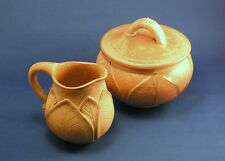 New Fair Trade World of Good Ceramic Sugar Bowl & Creamer Set Handmade in Bali
