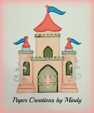 Girl princess castle premade paper piecing for scrapbook page album border