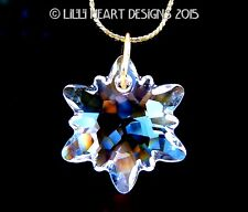 m/w Swarovski Brilliant Clear New Edelweiss Pendant on Chain Lilli Heart Designs