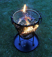 Garden Log Bruciatore o Brazier / Outdoor BARBECUE-patio o giardino