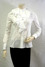 $138 BCBG WHITE (SLP1E532)  LONG SLEEVE COTTON SHIRT TOP NWT XXS