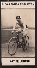 Arthur Vincent Linton British road bicycle racer. CARD IMAGE 1907