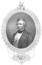 WHIG PARTY President MILLARD FILLMORE Slavery ~ Antique 1856 Art Print Engraving
