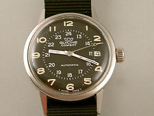 VINTAGE  GLYCINE COMBAT AUTOMATIC MODLE 645 HACK CIRCA 1967 IN BOX