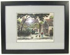 Original JACQUES MAURICE Signed Etching Barbizon France House Theodore Rousseau
