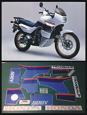 HONDA XL 600 V TRANSALP 1987  con etichette - adesivi/adhesives/stickers/decal