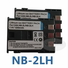 2pack NEW NB-2LH Battery Pack for Canon EOS 350D 400D G7 G9 XTi S70 S80 HV20