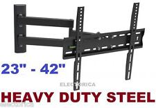 "23-42"" DUAL ARM LCD LED HD TV FULL MOTION WALL-MOUNT 3D 24 30 32 34 36 38 39 40"