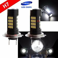 H7 Samsung (1 Pair) LED 42 SMD White Xenon 6000K Headlight Light Bulb Motorcycle