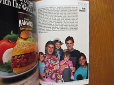 1987 TV Guide(FALL PREVIEW/FULL HOUSE/BEAUTY AND THE BEAST/DOLLY/FRANK'S  PLACE)