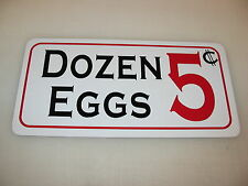 DOZEN EGGS 5 Cents Sign 4 Game Room Farm Texas Country House Store Man Cave