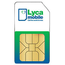 Lycamobile Unlimited UK Calls and Text 5GB data STANDARD & MICRO Sim Card