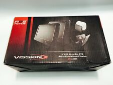 "Vission AM-90ASD Piano Black 9"" Dual LED Active Headrest with Single DVD/USB/SD"