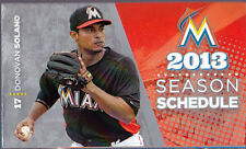 MIAMI MARLINS KIDS EAT FREE BASEBALL POCKET SCHEDULE DONOVAN SOLANO ON COVER