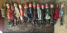 1800's Antique Vintage PUNCH AND JUDY Puppets Set 14 Marionette RARE LOT GERMANY