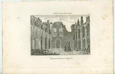 ANTIQUE HOLYROOD ABBEY CHURCH CHAPEL RUINS EDINBURGH SCOTLAND ITALIAN OLD PRINT