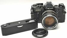 Black CANON AE-1 W Power Winder A / 50 mm 1.4 Lens  JAPAN
