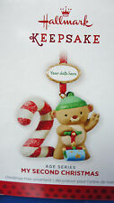 2013 HALLMARK My Second Christmas Child's Age Series Stickers to date Ornament