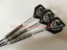 22g Nimrod Pitbull Tungsten Darts Set, Bulls Pit Bull Flights, Pro Grip Stems