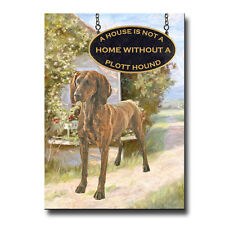 PLOTT HOUND House Is Not A Home FRIDGE MAGNET New DOG