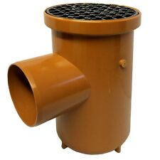 Bottle Gully Roddable Underground Drainage 110mm Single Inlet/Outlet Grid Cover
