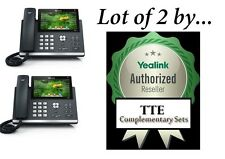 Lot of 2 Yealink SIP-T48S Gigabit VoiP Phone 7-Inch Touch 16 Lines
