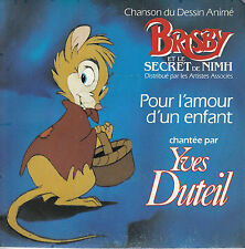 45TRS VINYL 7''/ FRENCH SP YVES DUTEIL / BO FILM DISNEY / BRISBY